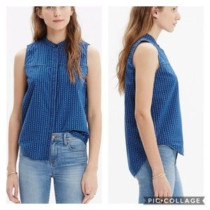 Madewell Blue Chambray Button Up Top